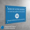 Plaque professionnelle en PVC Bleu à personnaliser | 30 x 20 cm