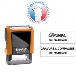TRODAT PRINTY 4910 | Tampon encreur 2 lignes | Empreinte 26 x 9 mm OFFERTE