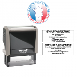 TRODAT PRINTY 4914 | Tampon encreur 6 lignes | Empreinte 64 x 26 mm OFFERTE