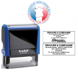 TRODAT PRINTY 4915 | Tampon encreur 6 lignes | Empreinte 70 x 25 mm OFFERTE