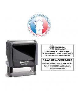 TRODAT PRINTY 4750/2 | Tampon texte et date 1 + 1 lignes | Empreinte 41 x 24 mm OFFERTE