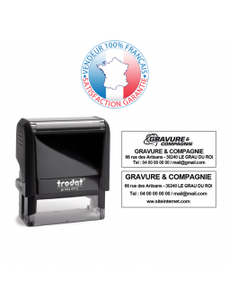 TRODAT PRINTY 4850 | Tampon texte et date 1 ligne | Empreinte 25 x 14 mm OFFERTE