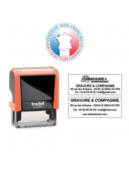 TRODAT PRINTY 4850/2 | Tampon texte et date 1 ligne | Empreinte 25 x 14 mm OFFERTE