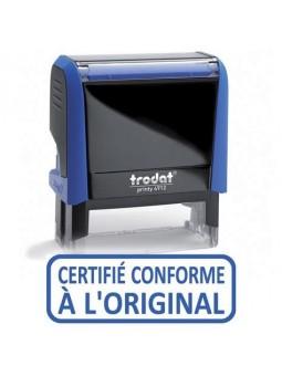 CERTIFIÉ CONFORME À L'ORIGINAL | Tampon encreur formule commerciale | TRODAT XPRINT 4992.09