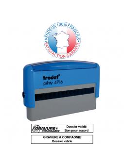 TRODAT METAL LINE 5200 | Empreinte / Plaque de texte 41 x 24 mm