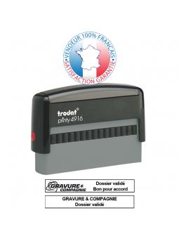 TRODAT METAL LINE 5204 | Empreinte / Plaque de texte 56 x 26 mm