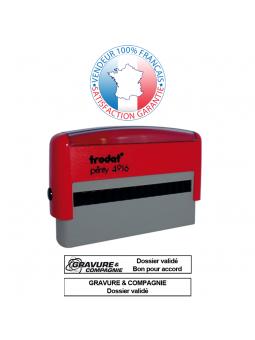 TRODAT METAL LINE 5205 | Empreinte / Plaque de texte 70 x 25 mm