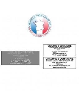 EMPREINTE TRODAT PRINTY 4915 | Plaque de texte | Timbre caoutchouc pour tampon encreur