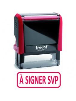 À SIGNER SVP | Tampon encreur formule commerciale | TRODAT XPRINT 4992.54