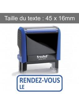 RENDEZ-VOUS LE... | Tampon encreur formule commerciale | TRODAT XPRINT 4992.58