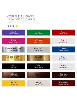 Plaque Boite Aux Lettres Avec DESSIN Adhésive PVC – Plaque Gravée À Personnaliser 10 x 2,5 cm (Noir)
