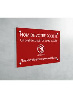 Plaque professionnelle en PVC ROUGE avocat