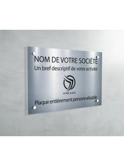 Plaque professionnelle en PVC GRIS ALU BRILLANT médecin