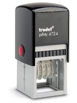 Tampon texte et date CARRÉ 40 x 40 mm | TRODAT PRINTY 4724