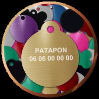 Médailles rondes gravées pour animaux   4,90€  Livraison gratuite