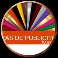 Plaque pas de publicité boite aux lettres | 2,50€ | Livraison gratuite