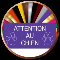 Plaque maison ATTENTION AU CHIEN adhésive | 4,90€ | Livraison gratuite
